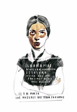 Dibujo de Emily Dickinson de Paula Bonet para el 8M Día de la Mujer