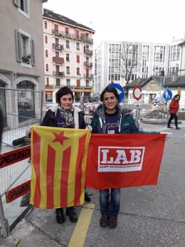 Aranburu y Gabriel en Ginebra.