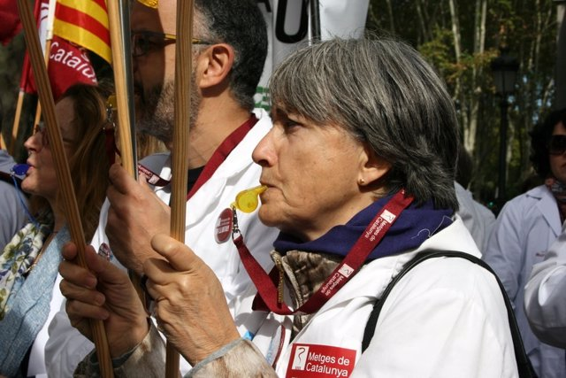 Metges de Catalunya en una protesta