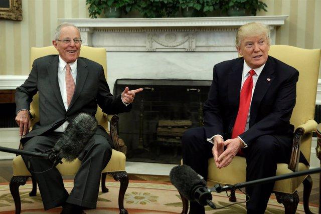 Donald Trump y Pedro Pablo Kuczynski, reunidos en la Casa Blanca