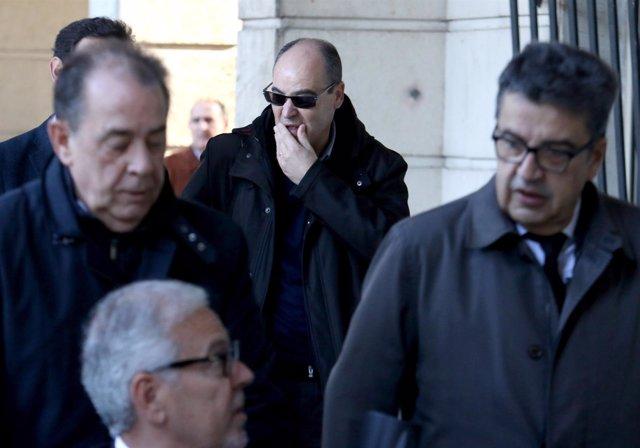 Ex interventor general de la Junta Manuel Gómez, en silla de ruedas en juzgados
