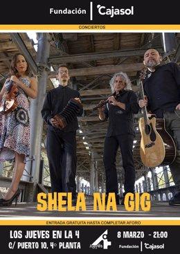Cartel de la actuación del concierto de Sheela Na Gig.