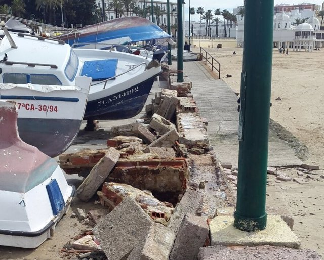 Estado del Club Caleta tras el temporal