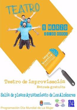 Cartel de las actividades de teatro en Los Alcázares