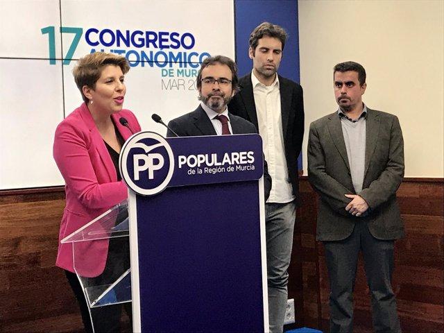 Noelia Arroyo, en la rueda de prensa