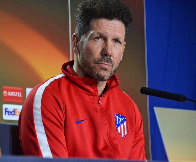 Diego Pablo Simeone, técnico del Atlético