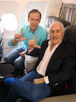 Los ex presidentes Jorge Quiroga (Bolivia) y Andrés Pastrana (Colombia)