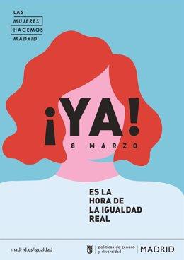 Carteles del Día de la Mujer del Ayuntamiento de Madrid