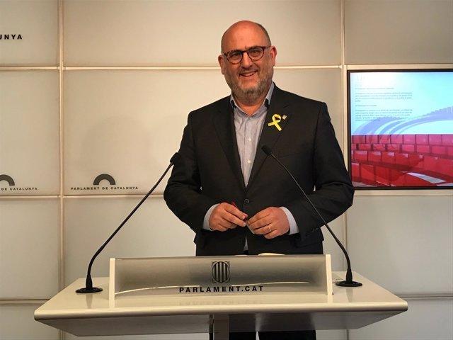 El portavoz adjunto de JxCat en el Parlament, Eduard Pujol