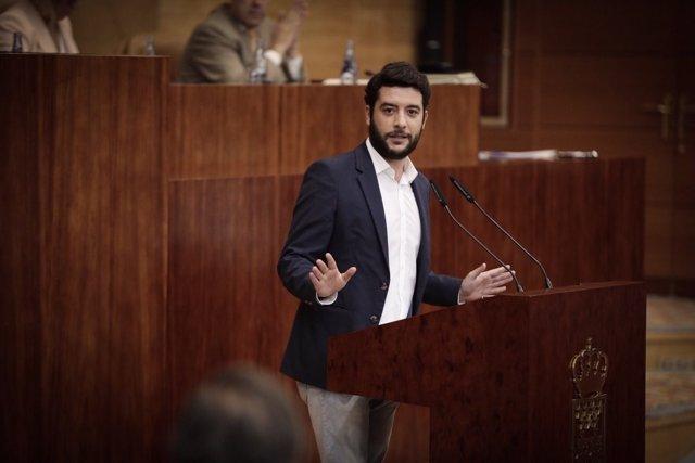 El portavoz adjunto de Ciudadanos en la Asamblea de Madrid, César Zafra