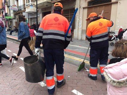 Retiradas más de 43 toneladas de basuras de la vía pública en las primeras 96 horas de la Magdalena