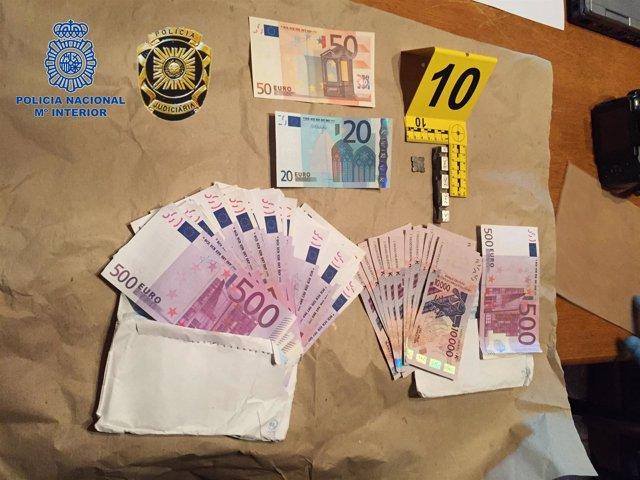 Dinero incautado falso por la Policía Nacional