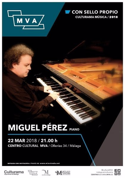 La nueva edición del ciclo 'Con sello propio' de Málaga comienza con un concierto del pianista Miguel Pérez