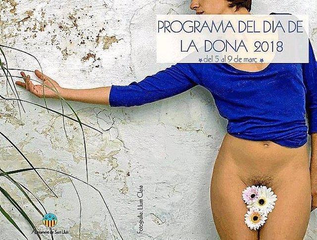 Cartel día de la mujer Sant Lluís