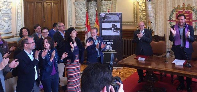 Acto del Día Internacional de la Mujer en el Ayuntamiento de Valladolid