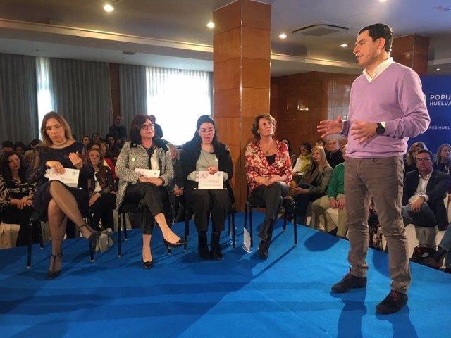 El presidente del PP-A, Juanma Moreno.
