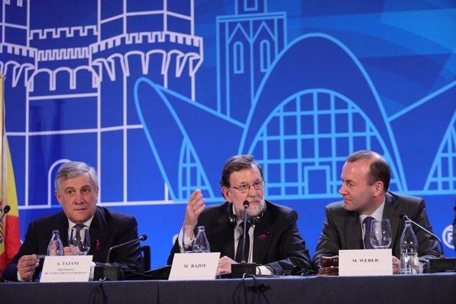 Rajoy en als jornadas del PPE en València