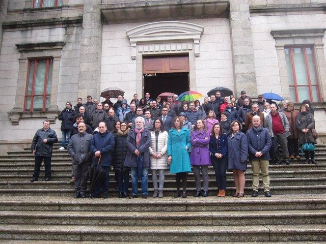 Concentración 8 de marzo en el Parlamento de Galicia