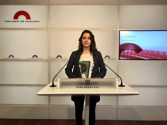 La líder de Cidadanos en Catalunya, Inés Arrimadas