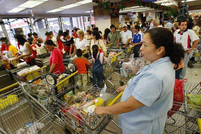 Supermercados, alimentos en Venezuela