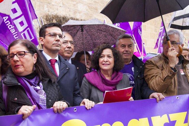 El presidente de la CRUE, Roberto Fernández Díaz, en el acto por el 8 de marzo