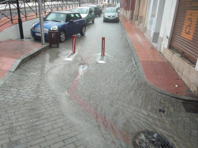 Efectos de la lluvia en La Herradura