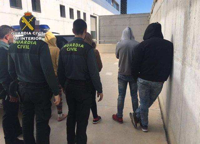 Grupo detenido