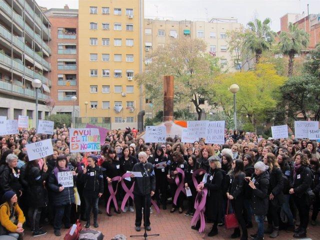 Concentración de periodistas en Barcelona por el 8M