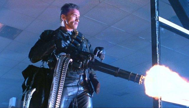 Arnold Schwarzenegger en Terminator 2: El jucio final (1991)