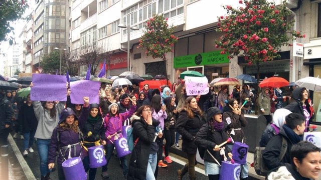 Manifestación en Santiago por el 8M