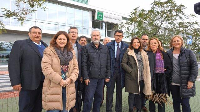 Navarro (PP) en hospital del Guadalhorce Cártama críticas a la apertura en falso