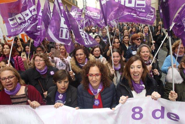 Movilización por el 8M en Sevilla