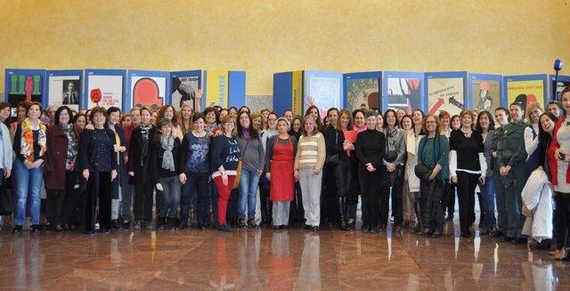 Trabajadoras de la DGT en el Día de la Mujer. 8 de marzo 2018