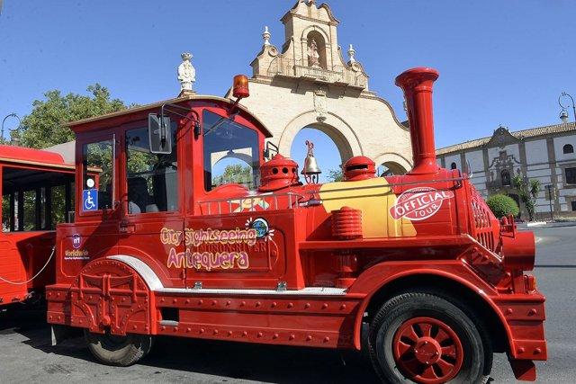 Tren turístico antequera agosto 2017 city sightseeing turismo tour