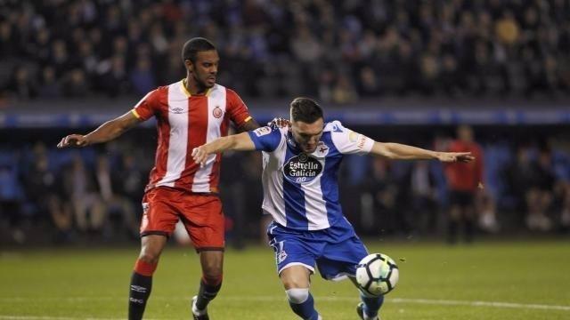 Lucas Pérez en el Deportivo - Girona