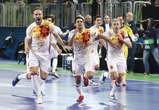 España se mete en la final del Europeo de fútbol sala