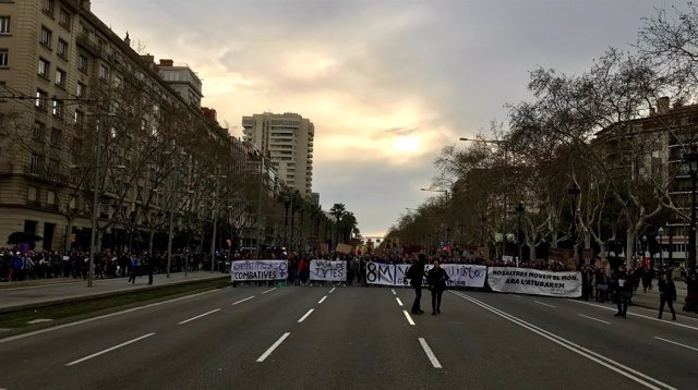 Manifestación 8M en Barcelona