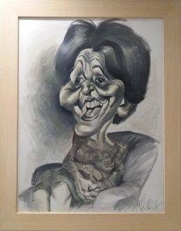 Caricatura de Josefina Carabias, primera mujer cronista parlamentaria