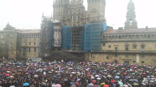 Concentración por el 8M en Santiago