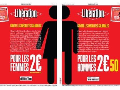 8M.- El diario francés 'Libération', 50 céntimos más caro para los hombres