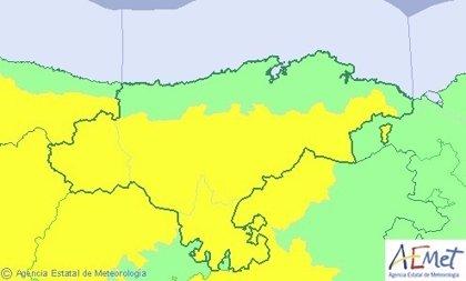'Félix' pone a Cantabria en aviso por vientos de hasta 95 km/h