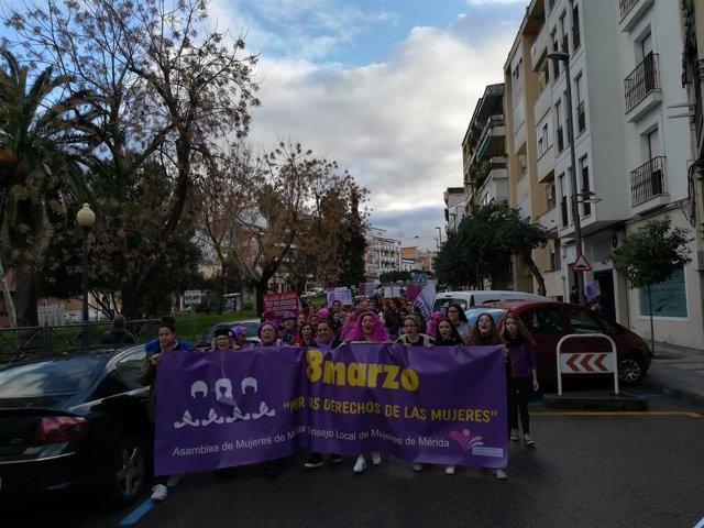 Manifestación del 8M en Mérida