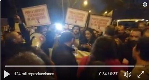 Increpan a Begoña Villacís durante la huelga feminista en Madrid