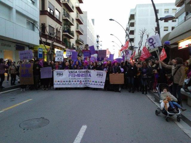 Manifestación por el 8M en Ibiza