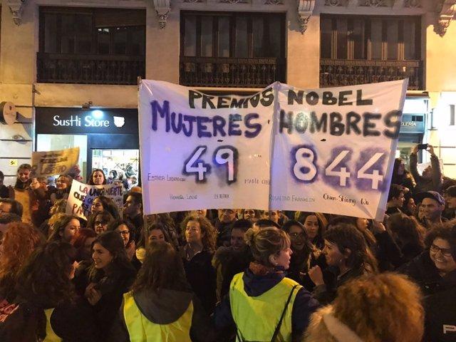 Premios Nobel Manifestación 8M