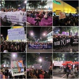 Imágenes de la manifestación convocada por el Movimiento Feminsita