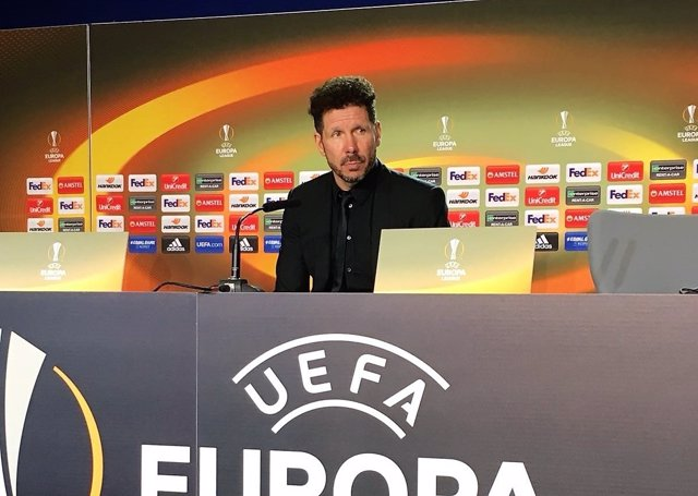 Diego Pablo Simeone en rueda de prensa de Liga Europa