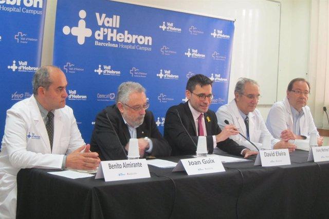 B.Almirante, J.Guix, D.Elvira, V.Martínez y T.Pumarola