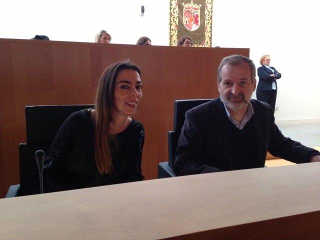Teresa Pardo y Gonzalo Sichar diputados provinciales cs ciudadanos málaga