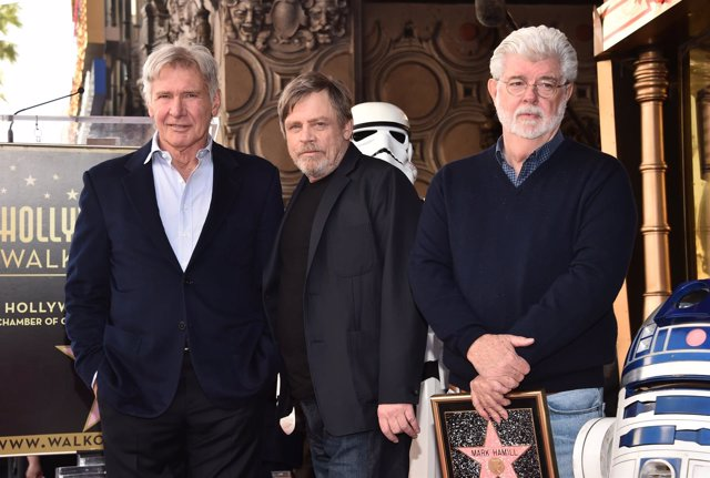 Mark Hamill, George Lucas Y Harrison Ford
